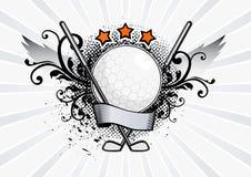 Emblema di golf di vettore Fotografia Stock Libera da Diritti