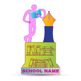 Emblema di istruzione Fotografia Stock