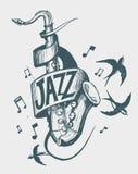 Emblema di jazz Immagini Stock