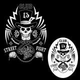 Emblema di lotta della via Fotografia Stock Libera da Diritti