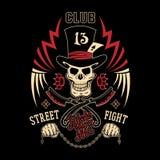 Emblema di lotta della via Immagine Stock Libera da Diritti