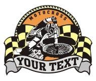 Emblema di motocross Immagini Stock Libere da Diritti