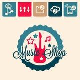 Emblema di musica Immagine Stock
