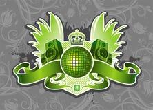Emblema di musica Immagini Stock