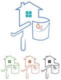 Emblema di Paintng royalty illustrazione gratis