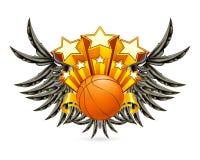 Emblema di pallacanestro Immagini Stock Libere da Diritti