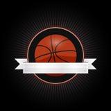 Emblema di pallacanestro Immagine Stock Libera da Diritti