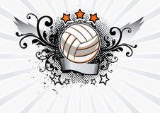 Emblema di pallavolo Fotografie Stock Libere da Diritti