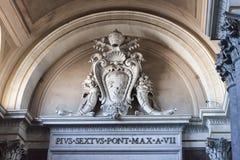 Emblema di papa Pio VI - Roma Immagini Stock Libere da Diritti