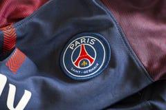 Emblema di Parigi St Germain sul jersey Immagine Stock Libera da Diritti