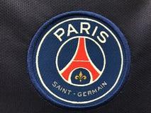 Emblema di Parigi St Germain sul jersey Fotografia Stock Libera da Diritti