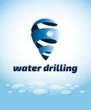 Emblema di perforazione dell'acqua, illustrazione di vettore Fotografie Stock