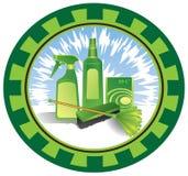 emblema di pulizia Fotografia Stock Libera da Diritti