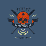 Emblema di rissa per strada Fotografia Stock Libera da Diritti