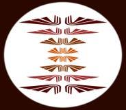 Emblema di simbolo delle ali Immagini Stock