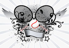 Emblema di sport di tennis Fotografia Stock