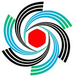 Emblema di turbinio Immagine Stock