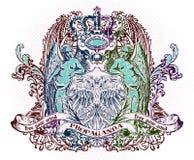Emblema di vettore illustrazione di stock