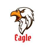 Emblema di vettore di Eagle Simbolo grafico del falco Immagine Stock