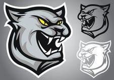 Emblema di vettore di logo della pantera del gatto Fotografia Stock Libera da Diritti