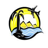 Emblema di viaggio Immagine Stock