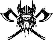 Emblema di Viking illustrazione di stock