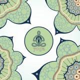 Emblema di yoga in un cerchio Immagine Stock