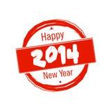 Crachá 2014 do ano novo feliz Imagens de Stock Royalty Free