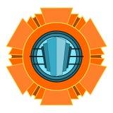 Emblema do art deco ilustração royalty free