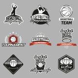 Emblema do basquetebol ilustração do vetor