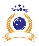 Emblema do boliches Imagens de Stock Royalty Free