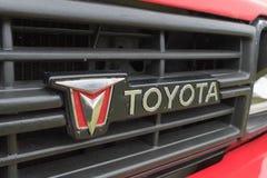 Emblema do caminhão 1991 de Toyota na exposição Imagem de Stock
