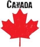 Emblema do canadense de Grunge ilustração stock