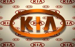 Emblema do carro de KIA foto de stock