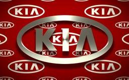 Emblema do carro de KIA Imagem de Stock Royalty Free