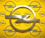 Emblema do carro de Opel Fotos de Stock Royalty Free