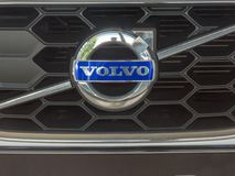 Emblema do carro de Volvo fotografia de stock