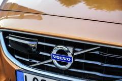 Emblema do carro de Volvo imagem de stock
