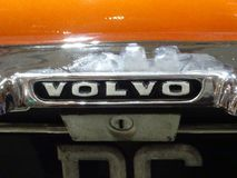 Emblema do carro de VOLVO e logotipo do tipo fotos de stock