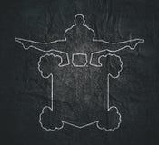 Emblema do clube do Gym fotografia de stock royalty free