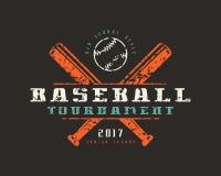 Emblema do competiam do basebol Projeto gráfico para o t-shirt Fotografia de Stock