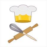 Emblema do cozinheiro chefe Fotos de Stock