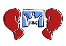 Emblema do encaixotamento do rei Imagem de Stock