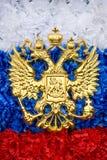 Emblema do estado do russo foto de stock