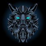 Emblema do ferro do lobo ilustração stock