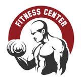 Emblema do fitness center ou do Gym ilustração do vetor