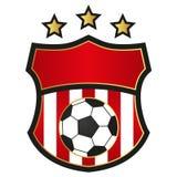 Emblema do futebol Fotografia de Stock Royalty Free