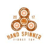 Emblema do girador da mão Imagem de Stock