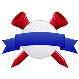 Emblema do golfe Foto de Stock Royalty Free