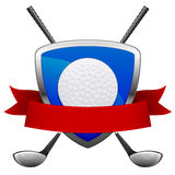 Emblema do golfe Fotos de Stock